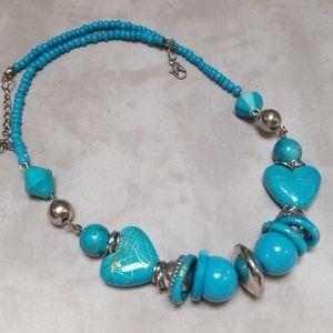 Vintage Necklace Boho Western Turquoise